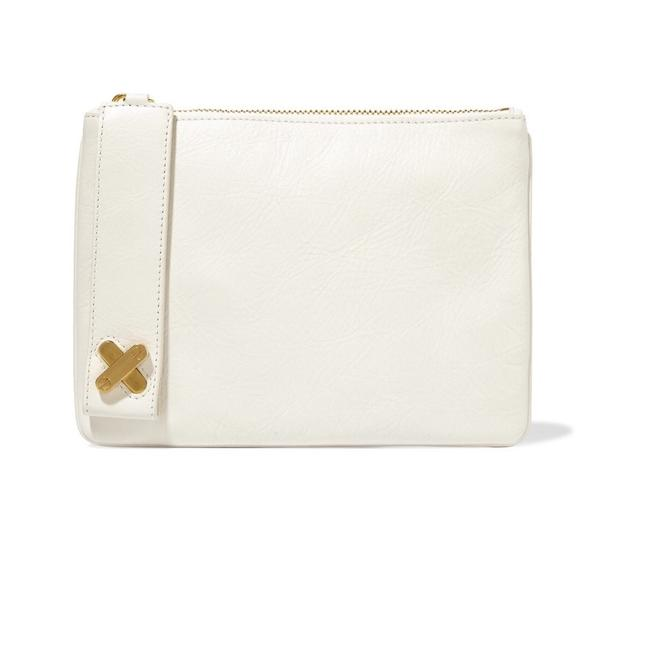 Alexander Wang Crux Pouch Textured-leather Off White Leather Clutch Alexander Wang Crux Pouch Textured-leather Off White Leather Clutch Image 1