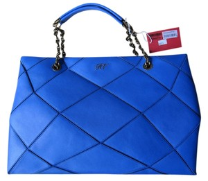 Roger Vivier New With Tag Limited Edition Prismick Collection Tote in Blue