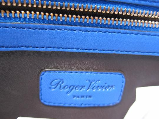Roger Vivier New With Tag Limited Edition Prismick Collection Shoulder Tote in Blue