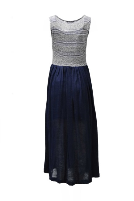 navy/white Maxi Dress by Pepito's Mid Length Image 1