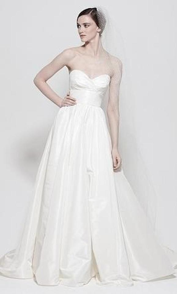 Watters Off White Silk Taffeta Gobi 7031b Traditional Wedding Dress ...