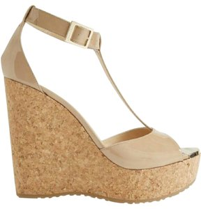 Jimmy Choo Patent Nude Wedges