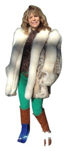 Designer Furs Ltd Vail Colorado Lynx Fur with Fox Trim Jacket