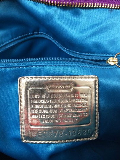 Coach Poppy 13830 Spotlight Fabric Shoulder Bag Image 5