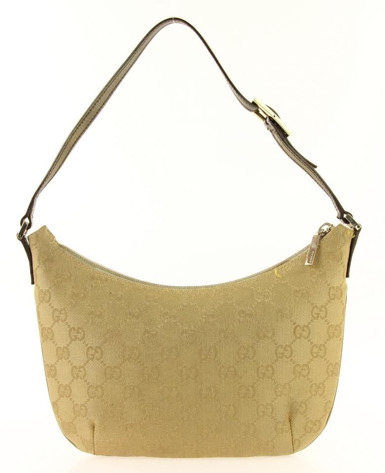 7113ff4c3 Gucci Small Gg Gold Canvas Shoulder Bag - Tradesy