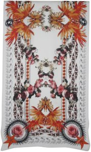 Givenchy NEW! Floral Paradise Long Scarf 100% Silk Chiffon Made in Italy
