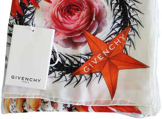 Givenchy NEW! Floral Paradise Long Scarf 100% Silk Chiffon Made in Italy Image 1