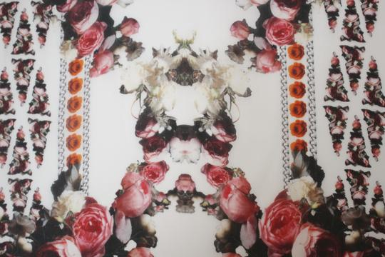 Givenchy NEW! Floral Paradise Long Scarf 100% Silk Chiffon Made in Italy Image 3