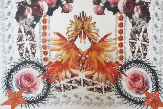 Givenchy NEW! Floral Paradise Long Scarf 100% Silk Chiffon Made in Italy Image 4