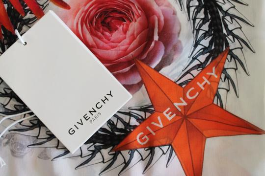 Givenchy NEW! Floral Paradise Long Scarf 100% Silk Chiffon Made in Italy Image 5