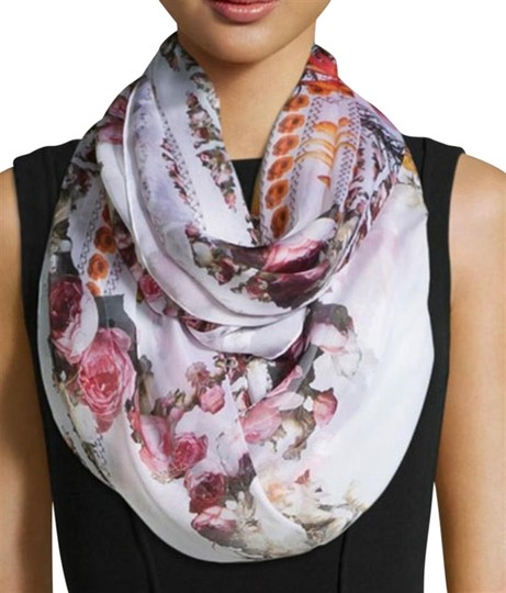 Givenchy NEW! Floral Paradise Long Scarf 100% Silk Chiffon Made in Italy Image 9