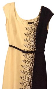 Adrianna Papell short dress black/beige on Tradesy