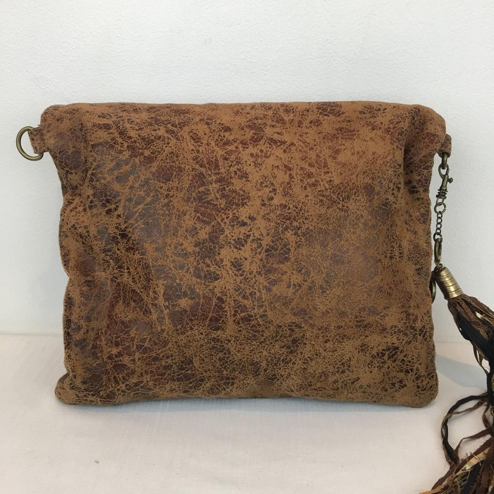 5bedebfbeecf Patricia Field Clutch Devil Wears Prada La Rue Collectible Studs Tassels  Brown Faux Leather Shoulder Bag - Tradesy