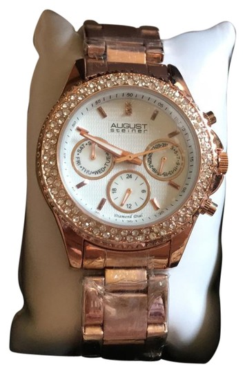 Preload https://img-static.tradesy.com/item/22123314/august-steiner-rose-with-diamond-dial-never-worn-and-never-sized-watch-0-1-540-540.jpg