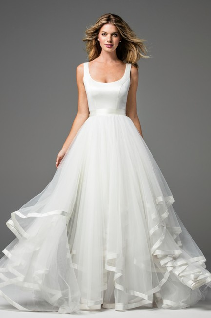 Wtoo Ivory Tulle/Satin Arabella 18240 Feminine Wedding Dress Size 6 (S) Wtoo Ivory Tulle/Satin Arabella 18240 Feminine Wedding Dress Size 6 (S) Image 1