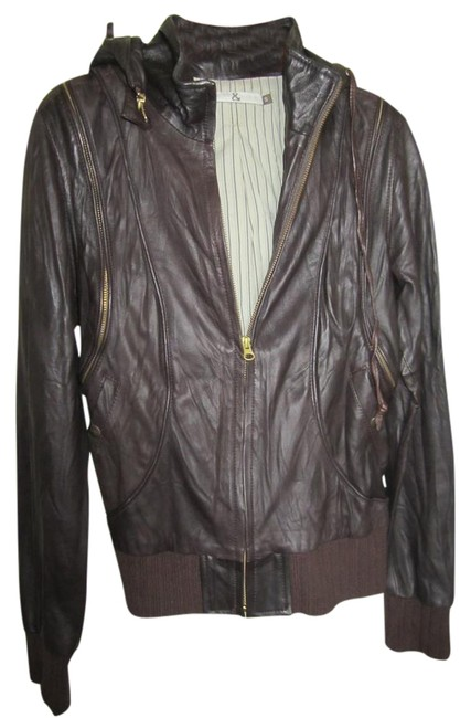 Preload https://img-static.tradesy.com/item/22123510/mike-and-chris-brown-leather-biker-jacketvest-with-hood-size-4-s-0-1-650-650.jpg