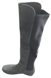 Stuart Weitzman Over The Knee Grey anthracite suede Boots