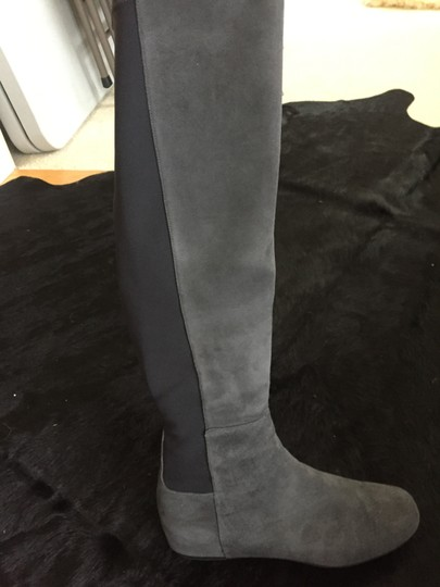 Stuart Weitzman Over The Knee Grey anthracite suede Boots Image 1