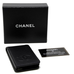Chanel Signature CC Logo Caviar Skin Leather Cellphone iPhone 4 Case