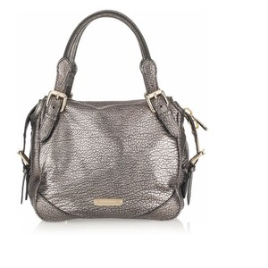 Burberry Tote in Metallic Silver / Pewter