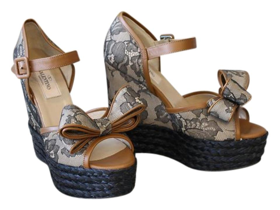 0264a940097 Valentino Lace Bow Espadrille Heels Wedges Size US 5 Regular (M, B) 64% off  retail