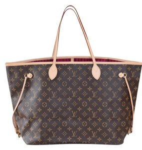 Louis Vuitton Neverfull Lv Neverfull Gm Tote in Monogram with PINK