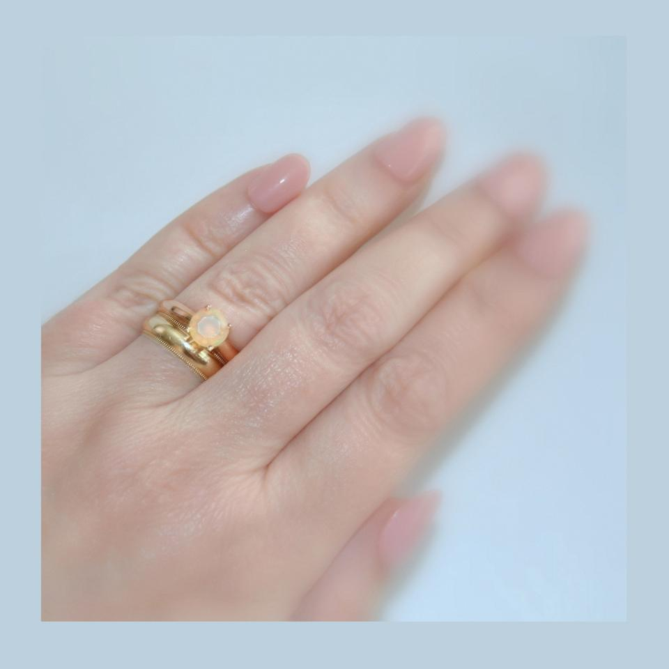 Untreated Opal Play Of Color 14k Rose Gold Natural Engagement ...