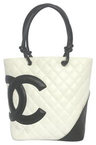 Chanel Cambon Ligne White And Black Tote
