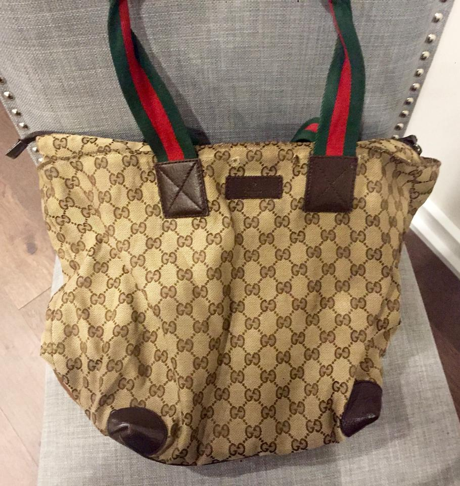 0b6658d3f1d Gucci Extra Large Size Satchel Or Multi-compartment Perfect For Travel Very  Good Vintage Tote ...