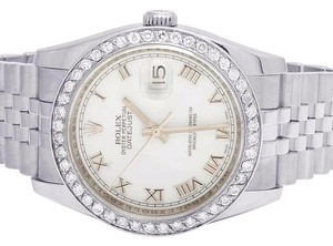 Rolex Mens Ladies Datejust 116200 36MM White Dial Diamond 2.5 Ct