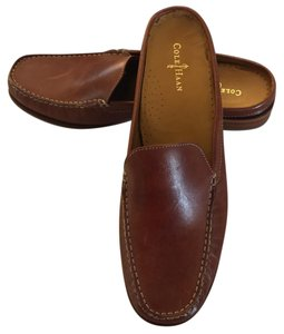 Cole Haan Leather Saddle Tan Mules