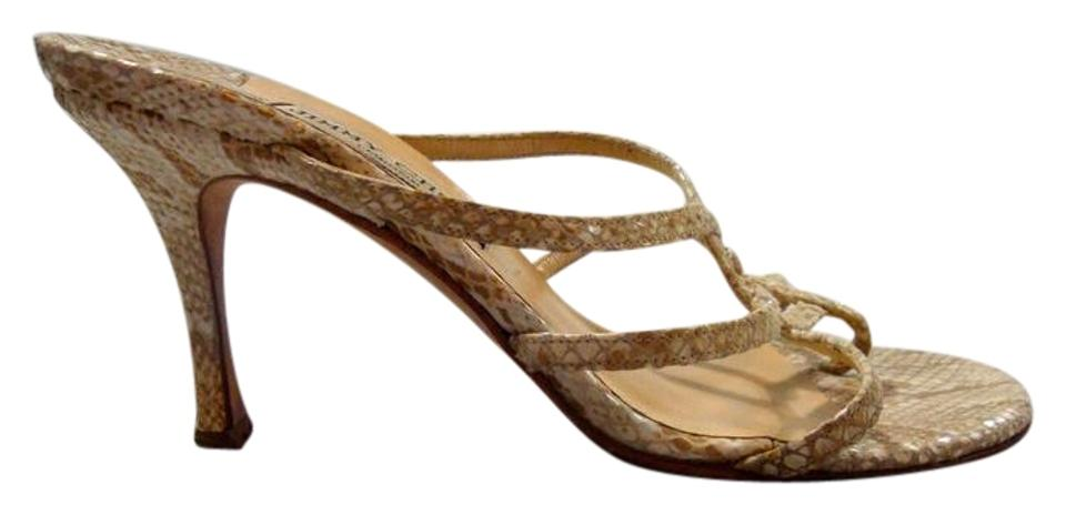Jimmy Choo Nude Snakeskin Strappy Strappy Strappy / Heels - 35 .5 / Sandals 84e0f7