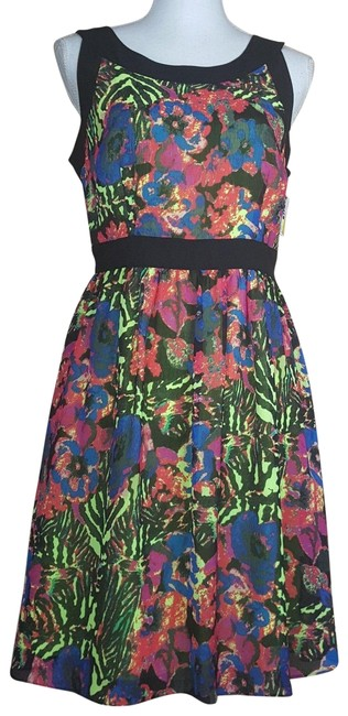 Item - Multi Color By Andrew Fit & Flare Short Night Out Dress Size 6 (S)