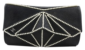 Chanel Stingray Midnight Swim Black Clutch