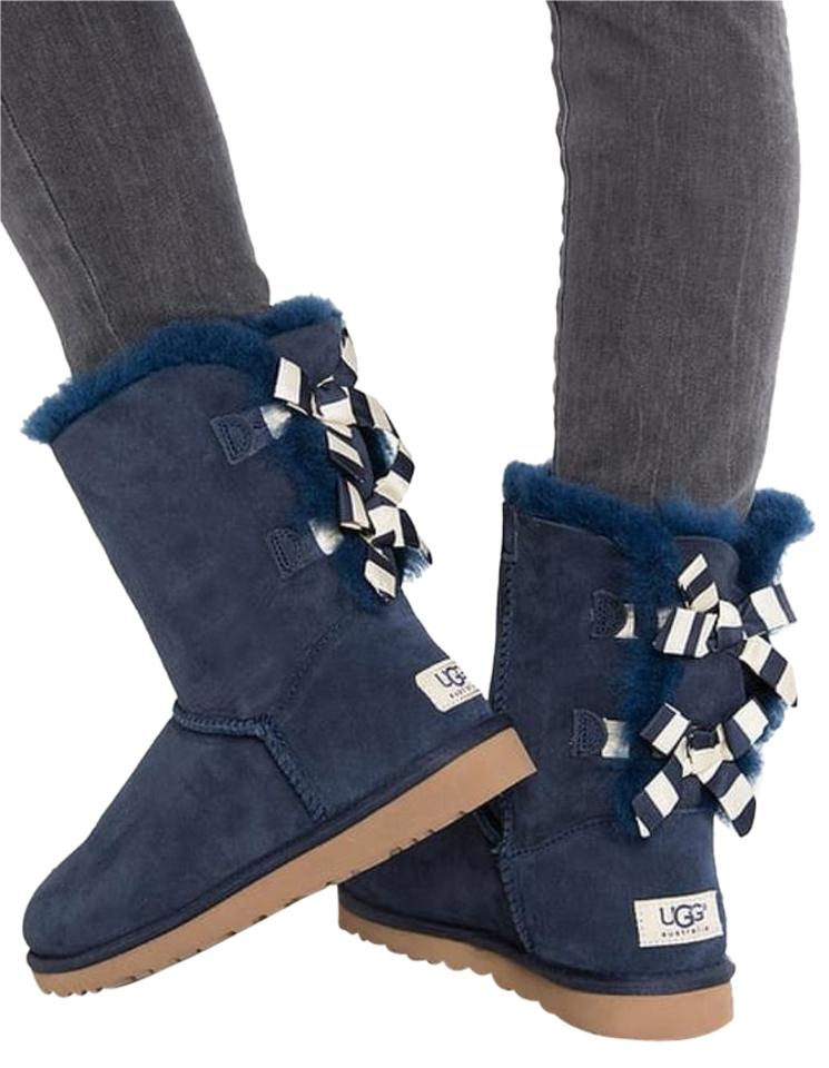 b607262b2d8 UGG Australia Navy Bailey Bow Stripe Boots/Booties Size US 7 Regular (M, B)  18% off retail
