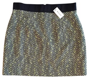MILLY Mini Skirt Black and Green