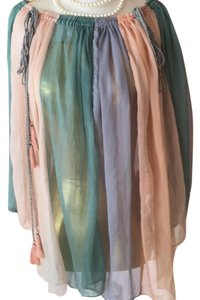 Antik Batik Top turquoise, lavender, and peach