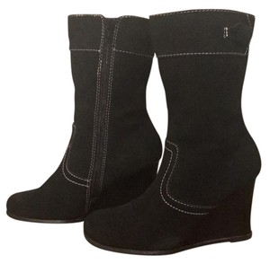 M.P.S. Shoes Leather Wedgeboots Mps Winterboots black Boots