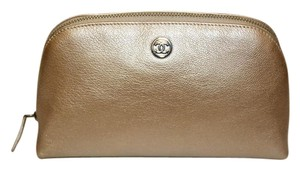 Chanel Chanel Gold Caviar Leather Make Up Pouch