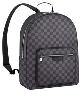 Louis Vuitton Damier Canvas Black Backpack. Louis Vuitton Josh Damier Canvas  (N41473) Graphite Cowhide Leather ... 09554961fbe