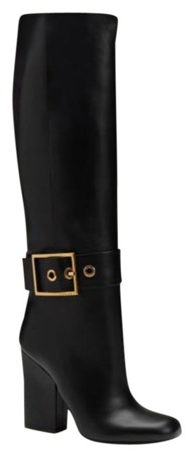 Gucci Black Kesha Buckle Knee High Leather Boots/Booties Size EU 36.5 (Approx. US 6.5) Regular (M, B) Gucci Black Kesha Buckle Knee High Leather Boots/Booties Size EU 36.5 (Approx. US 6.5) Regular (M, B) Image 1
