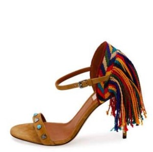 Valentino brown blue red yellow multi Sandals