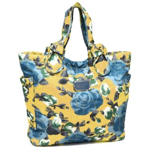 Marc by Marc Jacobs Pockets Nylon Floral Tote in Yellow Jacket Multi