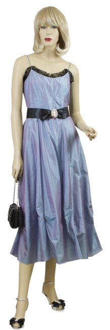 Item - Blue Mid-length Night Out Dress Size 6 (S)