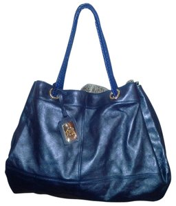Roberto Cavalli Metallic Large Tote in Blue
