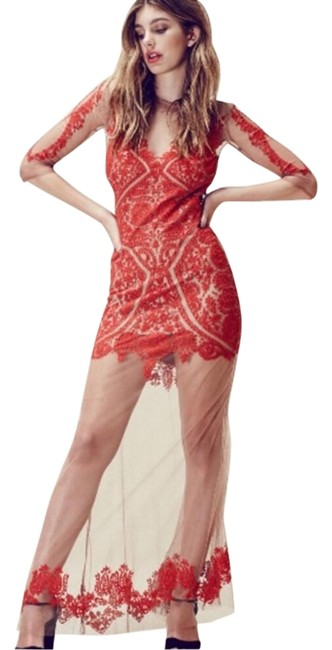 Item - Red And Long Casual Maxi Dress Size 8 (M)
