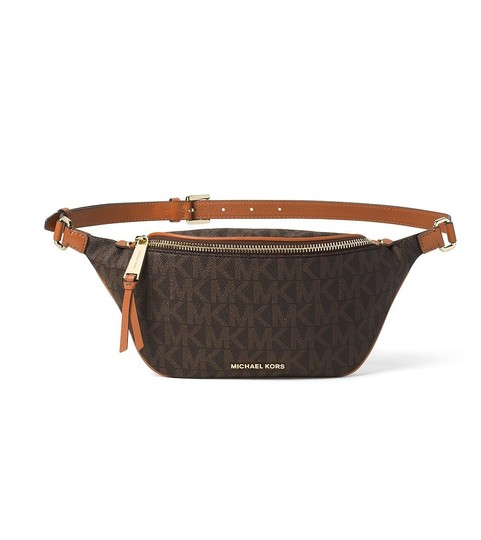 a09d7f0c6b06 Michael Kors Michael Kors Rhea Zip Belt Bag - Brown Waist Packs   Fanny Pack  Image ...