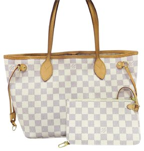 Louis Vuitton Lv Pm Damier Azur Neverfull Canvas Shoulder Bag