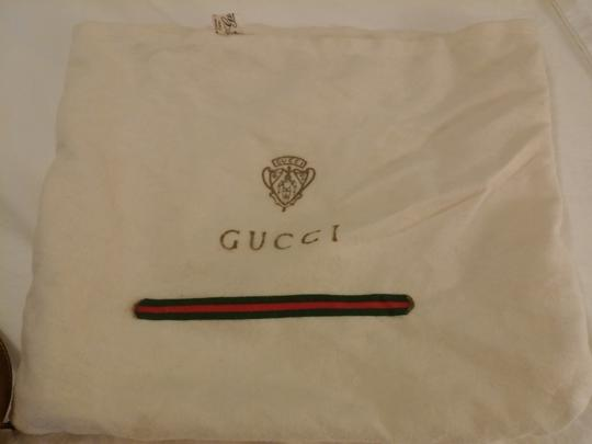 Gucci Vintage Monogram Made In Italy Serial Number Cotton Storage Shoulder Bag