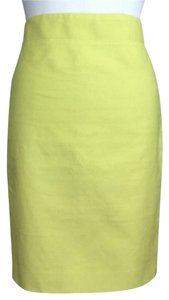 J.Crew No. 2 Pencil In Twill Size 4 Skirt Neon Green